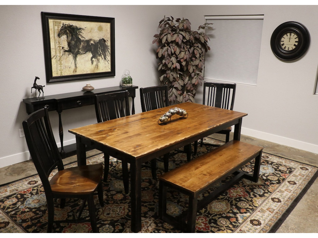 canadel 4 chairs bench and table three rivers dining set. Black Bedroom Furniture Sets. Home Design Ideas