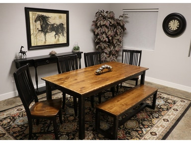 Canadel 4 Chairs Bench And Table Three Rivers Dining Set