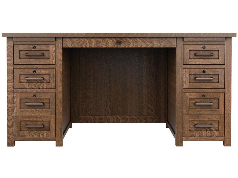Woodley Brothers Mfg Colorado Craftsman 60 Executive Desk Col 6130exe