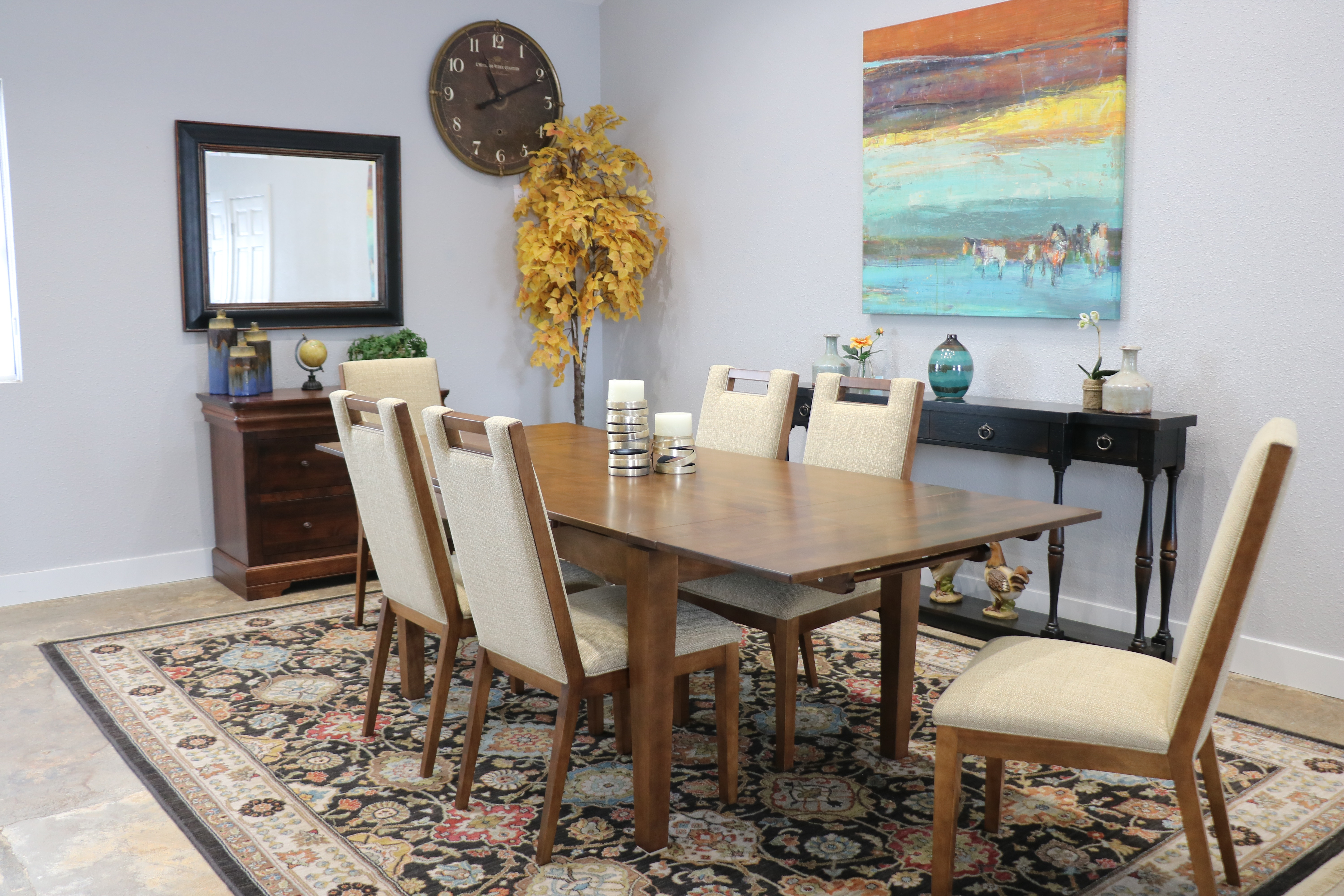Bermex Table W/6 Chairs Eastfield Dining Set