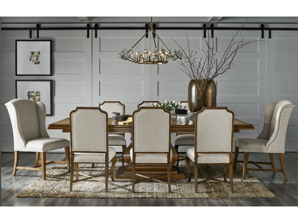 Universal Furniture Includes 106 Table With 6 Side Chairs And 2 Captain Chairs Traditions