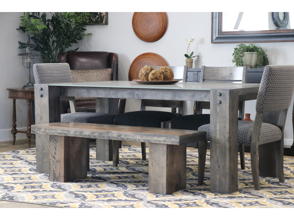 canadel table chairs and bench lakeside dining set - Dining Room Table With Chairs And Bench