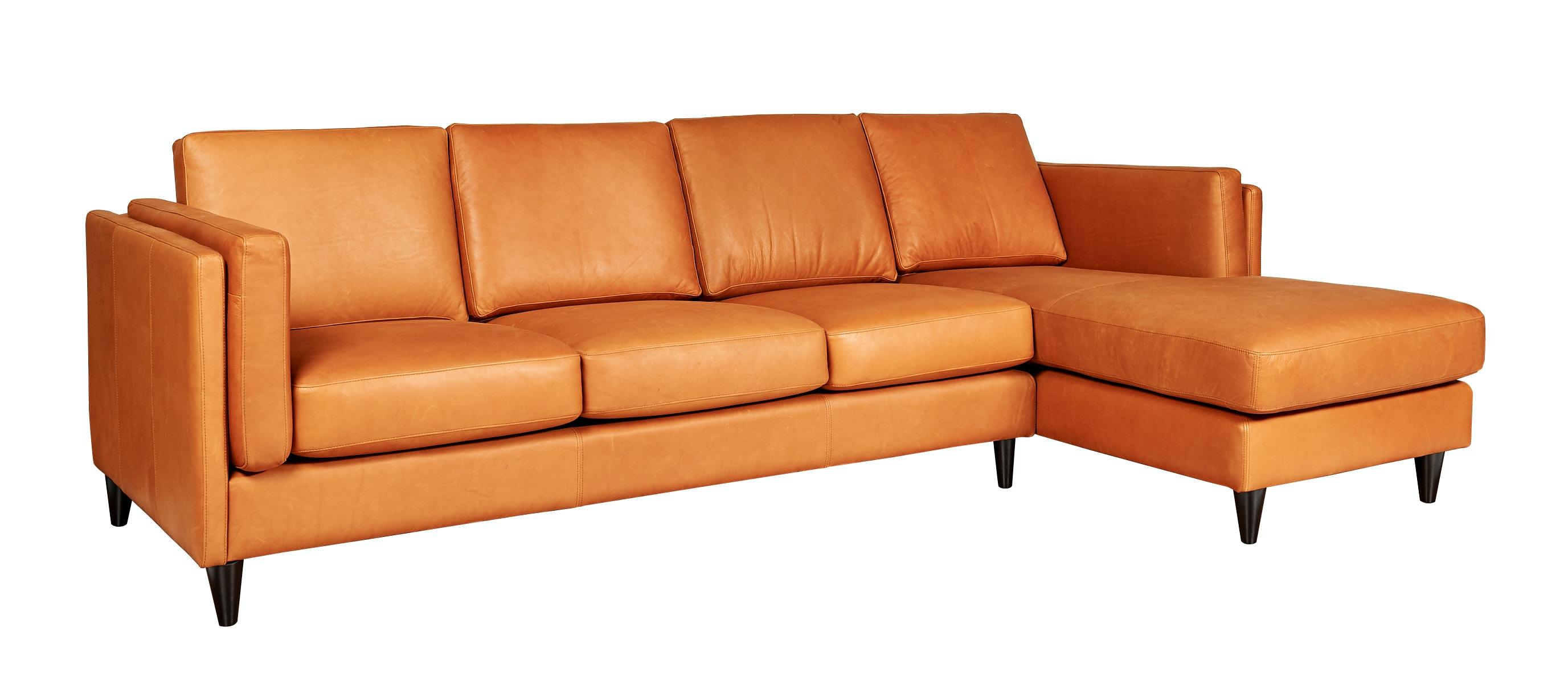 Legacy Leather Sofa W/Chaise Tessa