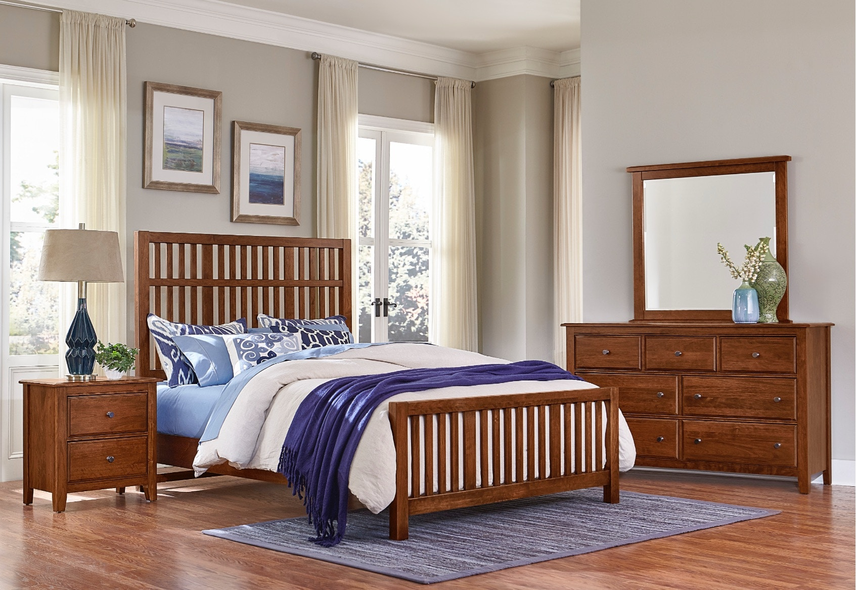 Vaughan Bassett Furniture Company Artisan U0026 Post Villa Craftsman Bedroom Set