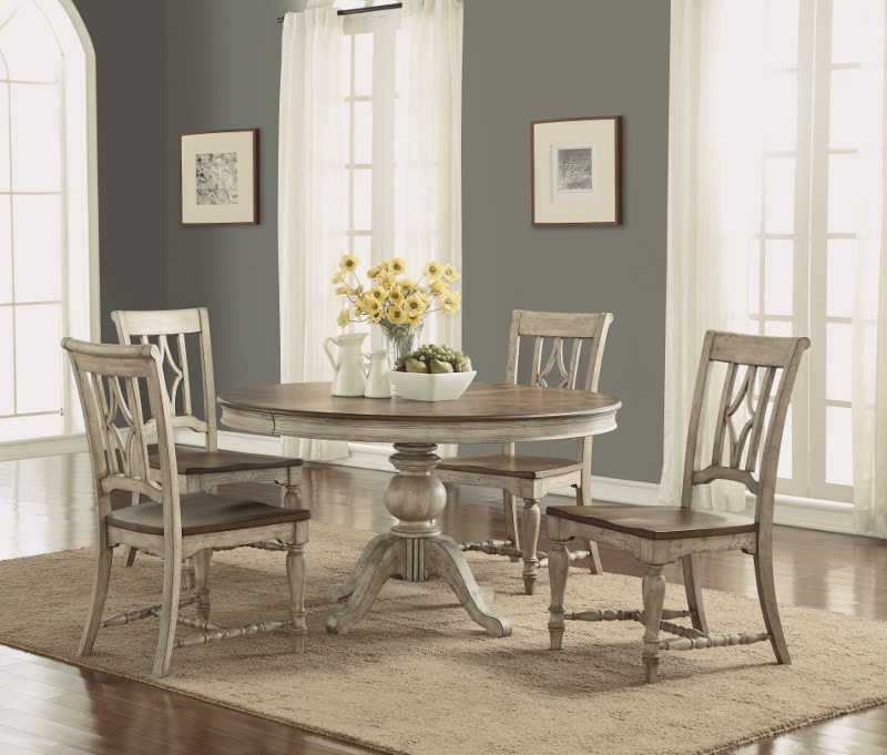 Flexsteel Table And 4 Chairs Plymouth Dining Set