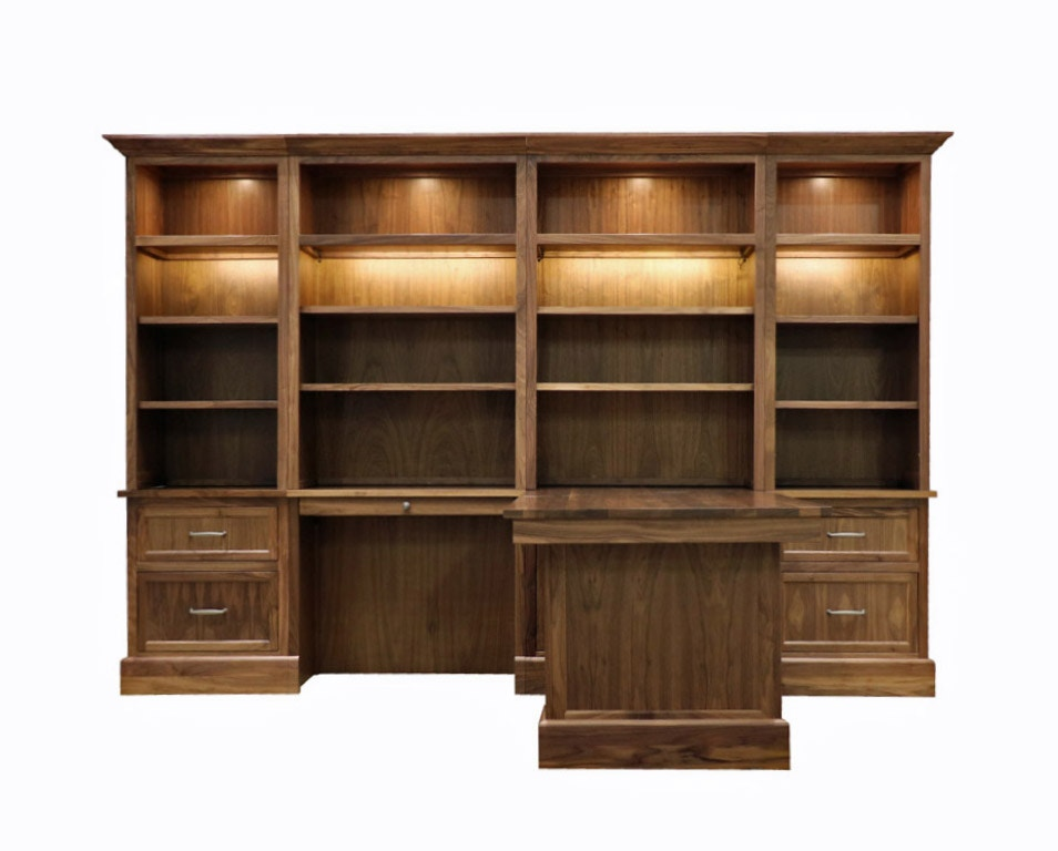 Woodley Brothers Mfg. Willow Wall Group, File, Desk, Partners Desk, File  With Hutches WIL 24F35D35D24F