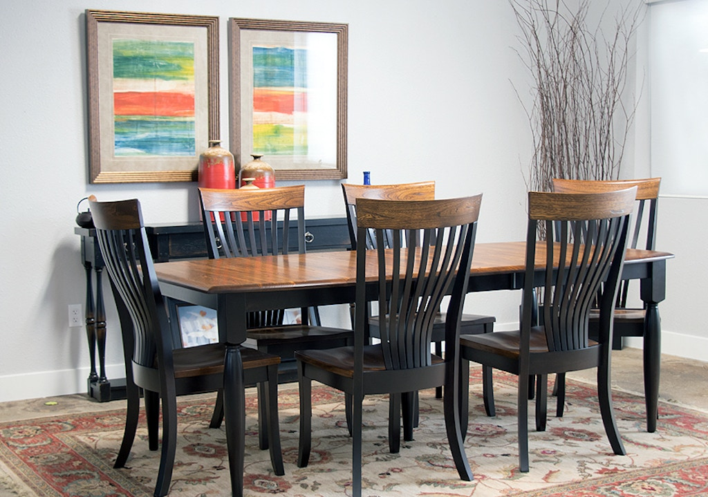 Palettes By Winesburg Solid Elm And Maple Table With 6 Side Chairs