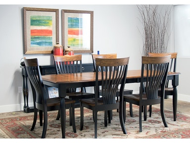 Brinkley Dining Set Solid Elm And Maple Table