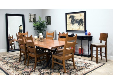 Palettes By Winesburg Solid Cherry Live Edge Table And 6 Chairs Rochester Set