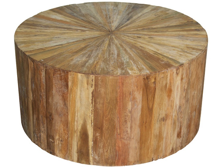 outlet center round teak wood coffee table norgtab169tt 1 from walter e smithe furniture - Teak Wood Coffee Tables