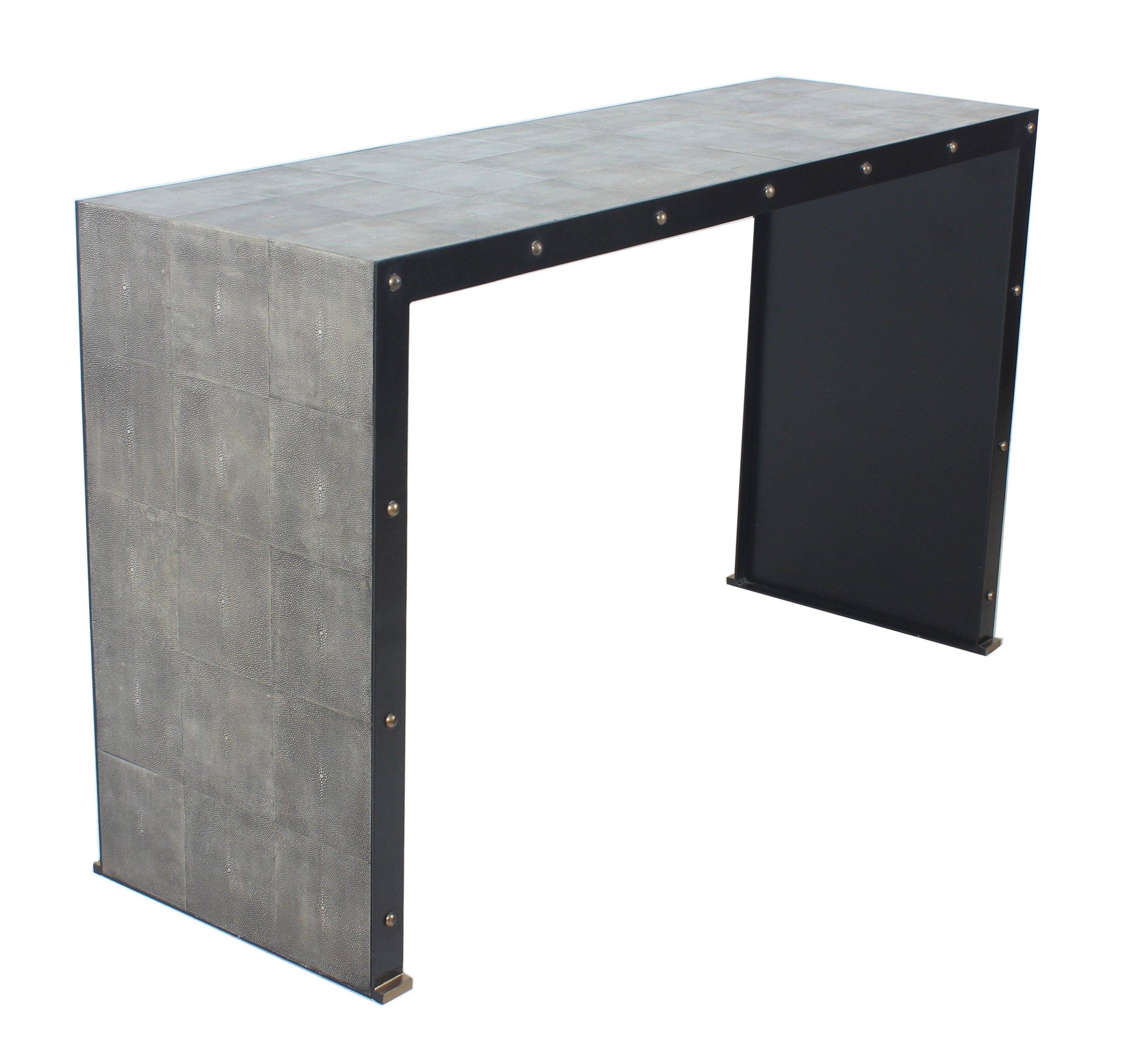 Stock Program DUNE SHAGREEN LEATHER CONSOLE LHE11107ST From Walter E.  Smithe Furniture + Design