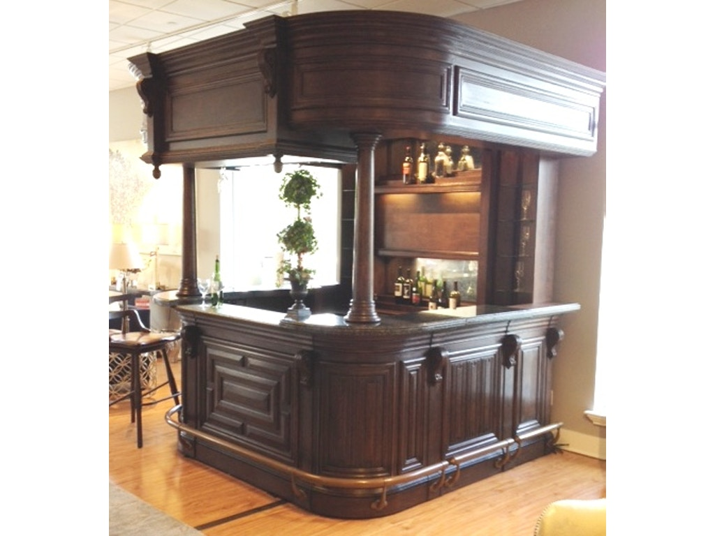 Linenfold dark oak home bar Home bar furniture clearance