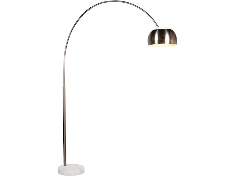 88bb9811a1b Accessories Arc Floor Lamp - Satin Nickel SON409613G