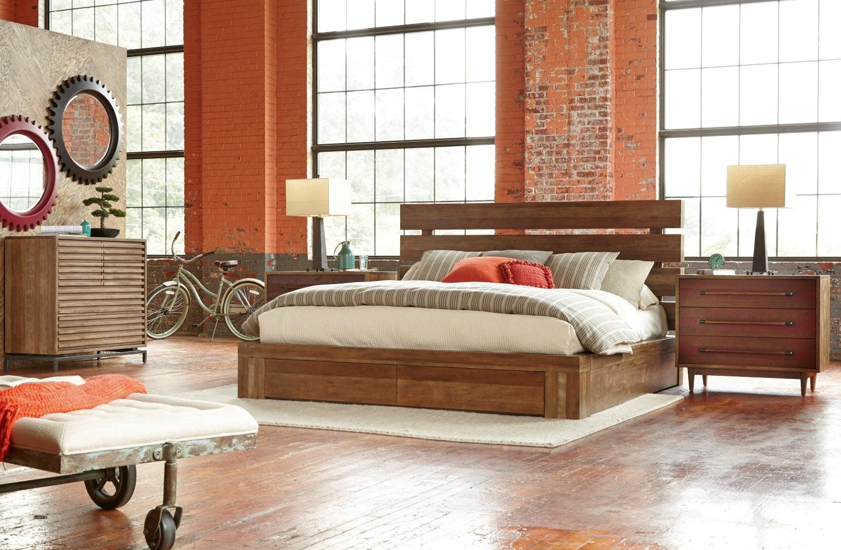 Delicieux WES 5/0 Franklin Street Complete Platform Bed WKP252302 From Walter E. Smithe  Furniture