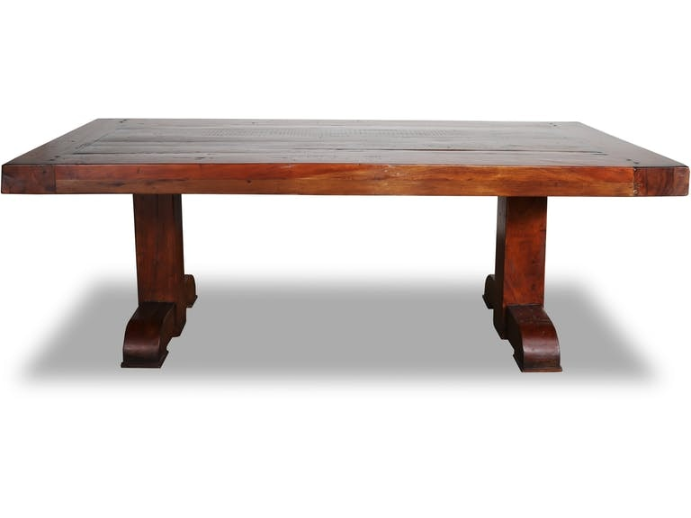 Stock Program HAMPTON SALVAGED WOOD DINING TABLE MTC26802ST From Walter E.  Smithe Furniture + Design