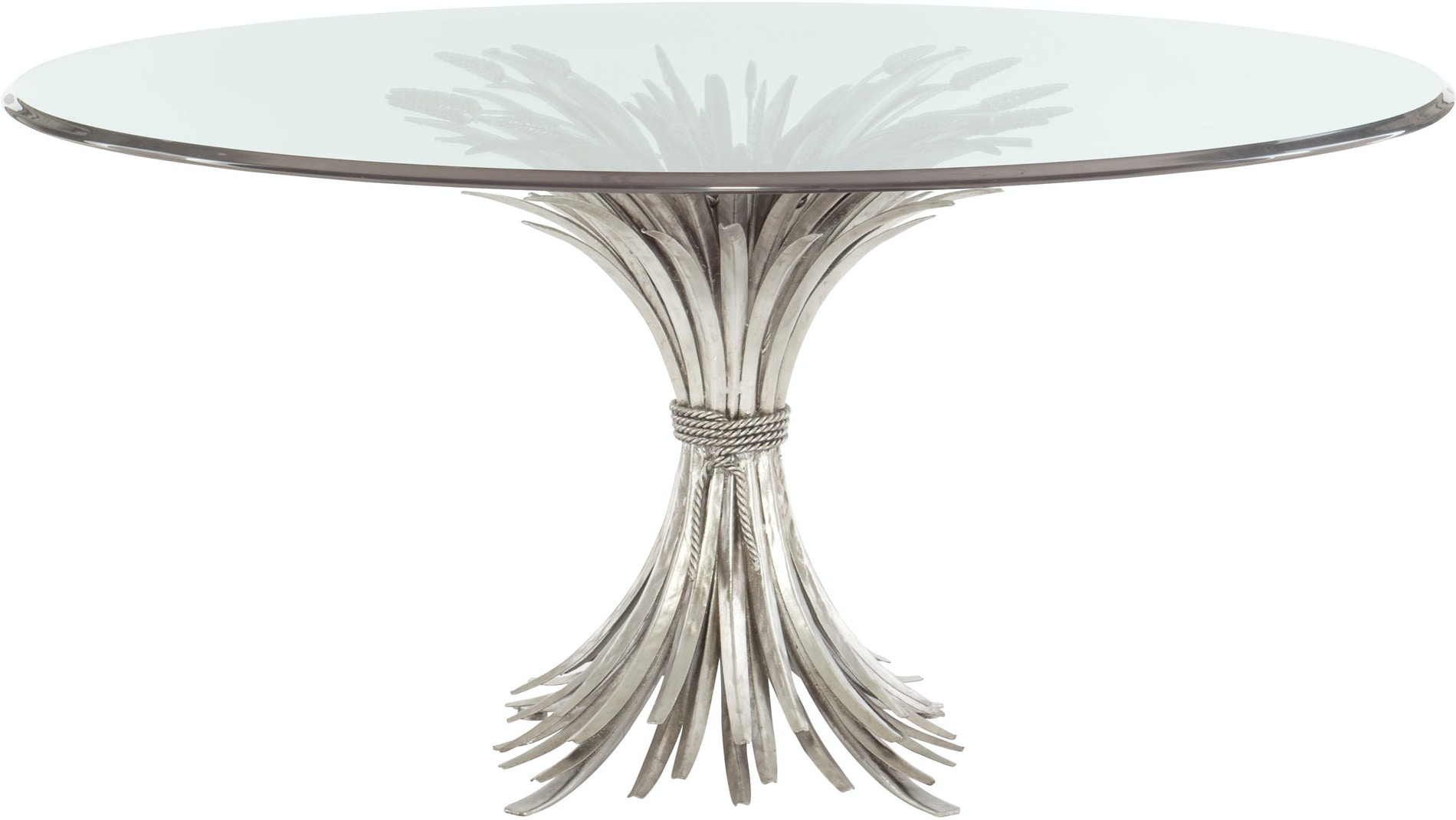 Somerset Gl Top Pedestal Dining Table
