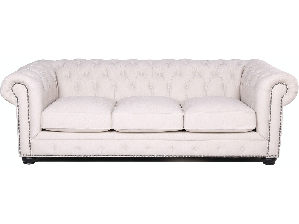 Carlton Tufted Chesterfield Sofa in Ivory
