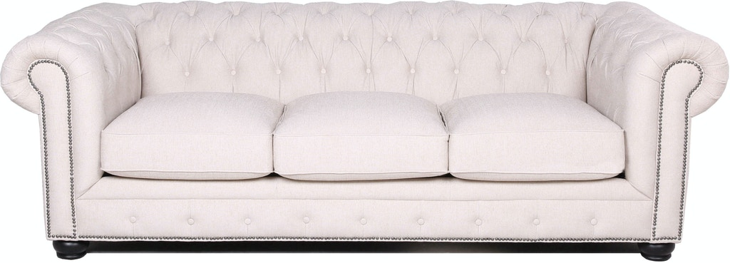Stock Program Carlton Tufted Chesterfield Sofa In Ivory Nv3778kfsfst From Walter E Smithe Furniture
