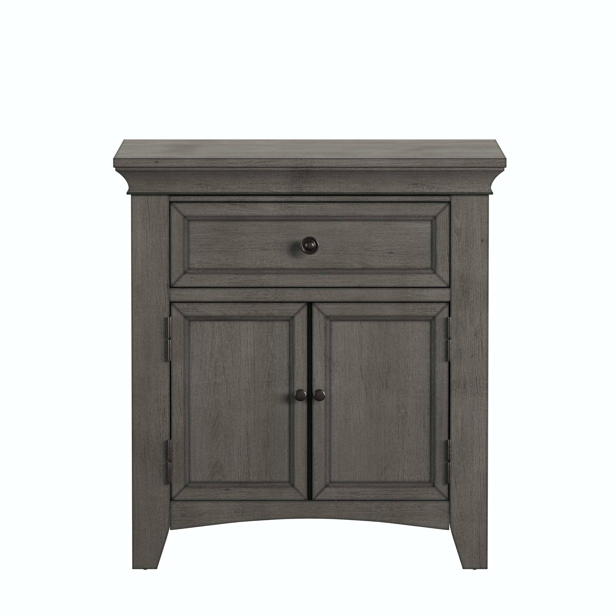 Dearborn Cupboard Nightstand Antique Grey Finish