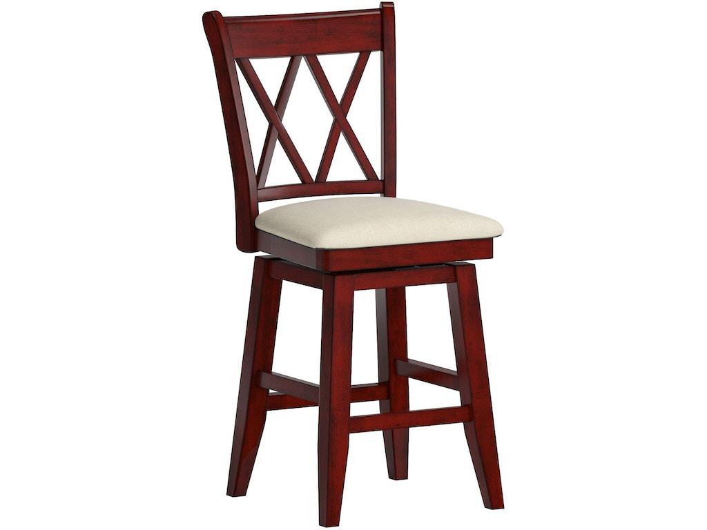 Surprising Dearborn 24 Counter Height Swivel Chair Double X Back Uwap Interior Chair Design Uwaporg