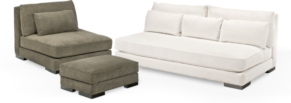 Wes Chill Armless Sofa 62533 From Walter E Smithe Furniture Design