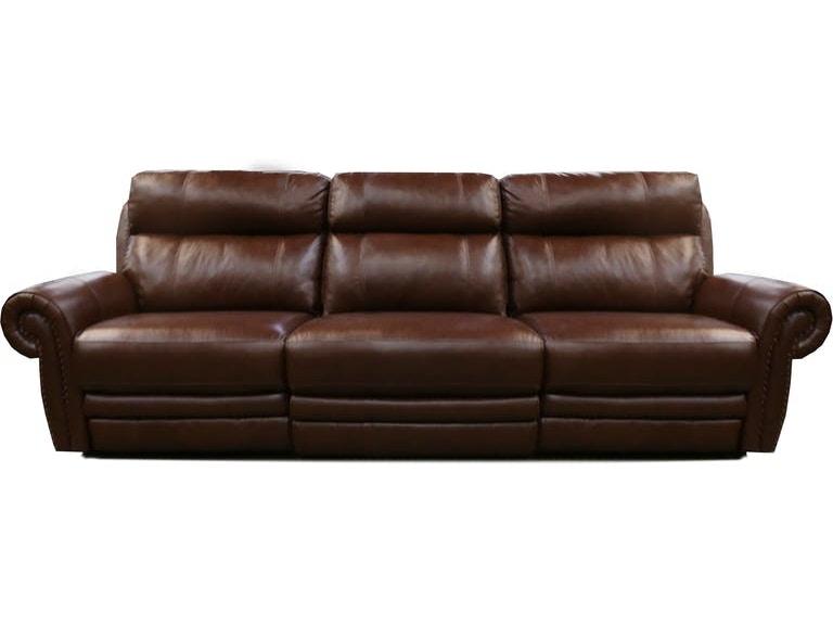 Hutchinson Dual Power Reclining Leather Sofa