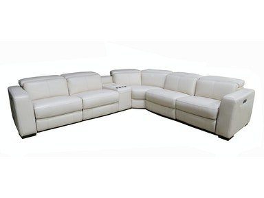 Kinzie 6 Piece Reclining Leather Sectional