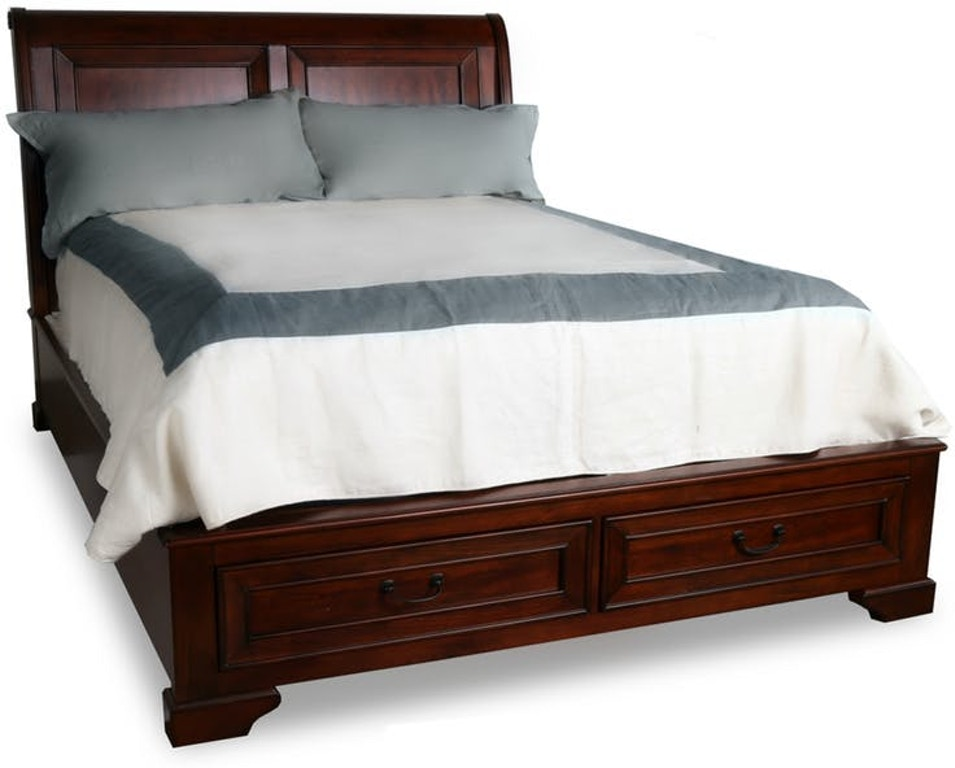 hamilton with item sleigh products home number platform sentinel furniture bed footboard pecan queen