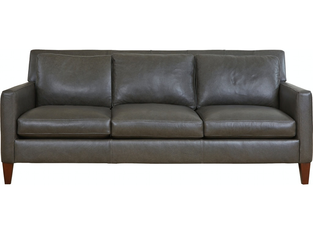 Walter E Smithe Living Room Sofas - Brushed leather sofa 2