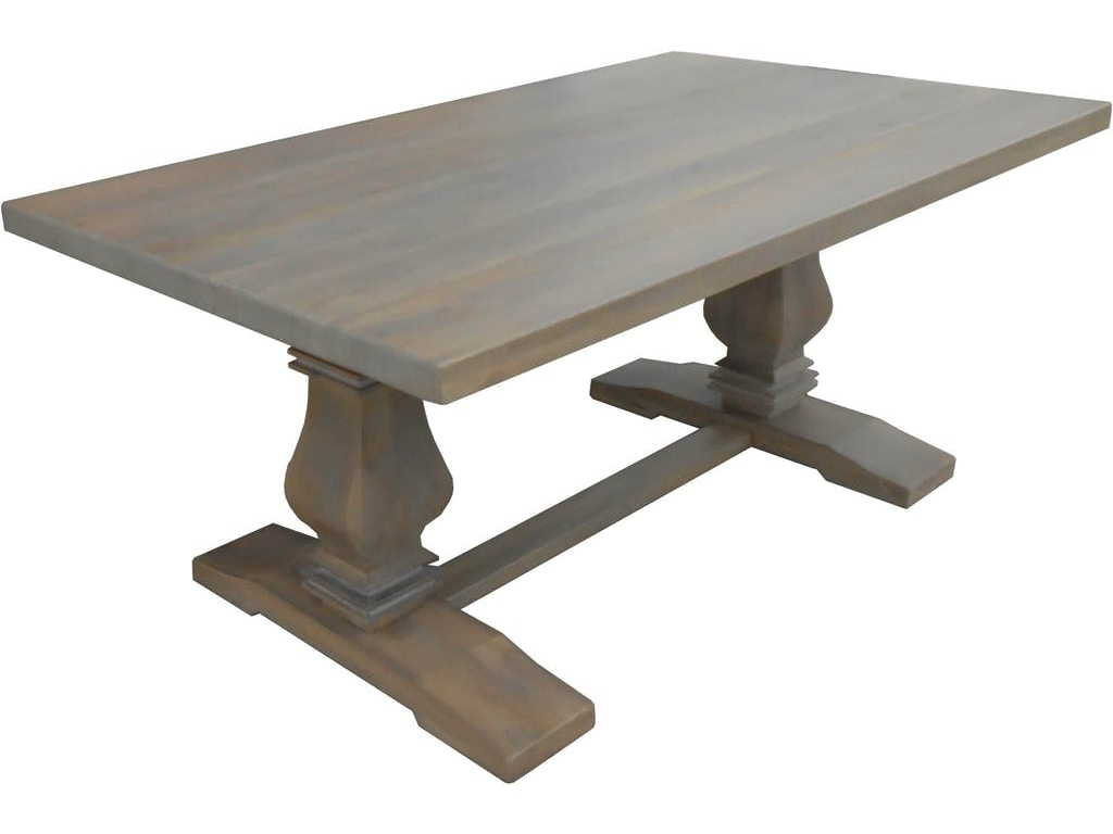 Bristow 72in Dining Table In Greige No Leaf