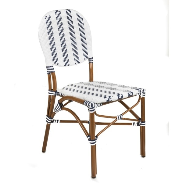 Beau Repas NAVY/WHITE CAFE BISTRO CHAIR BRRBLWHBC From Walter E. Smithe  Furniture +
