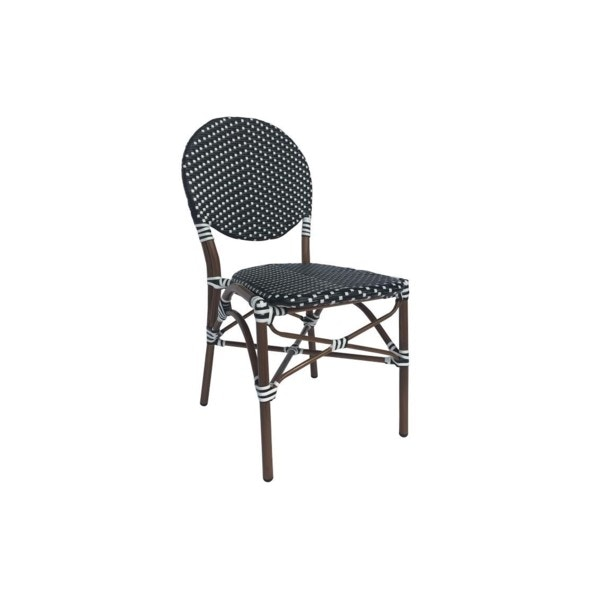 Beau Repas BLACK/WHITE CAFE BISTRO CHAIR BRRBWBC From Walter E. Smithe  Furniture +