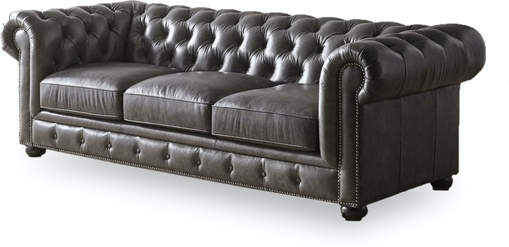 Stock Program Carlton Leather Chesterfield Sofa Nv3778bsfst From Walter E Smithe Furniture Design