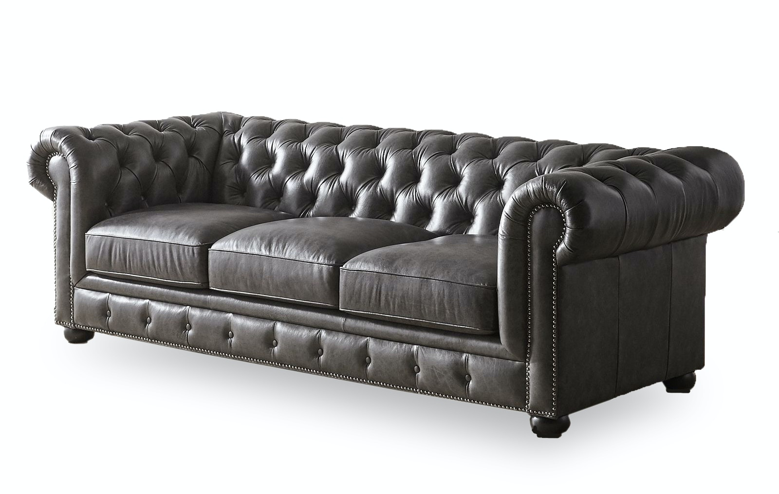 Catalog Feature CARLTON LEATHER SOFA NV3778BSFST From Walter E. Smithe  Furniture + Design