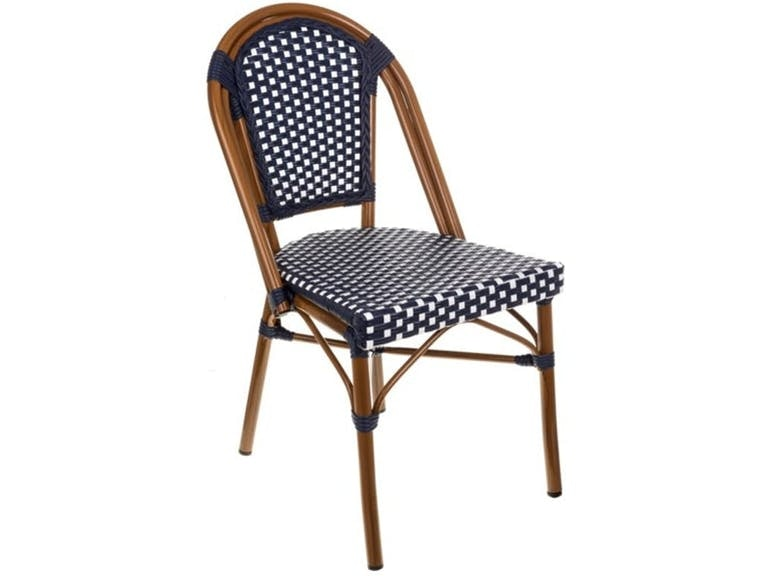 Clearance Black And White Cafe Bistro Chair BRRBWGBCST CLR From Walter E.  Smithe Furniture
