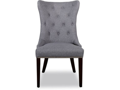Gramercy Dark Grey Tufted Dining Chair