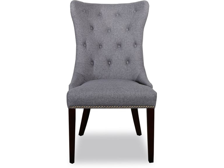 Catalog Feature Gramercy Dark Grey Tufted Dining Chair CBKGRAMERCYDKGREYST  From Walter E. Smithe Furniture +