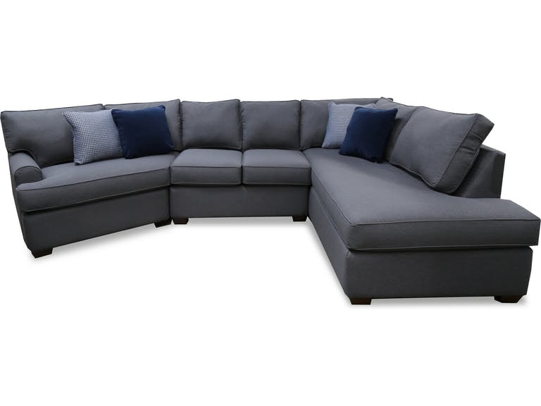 Total 3 Piece Sectional   Grey