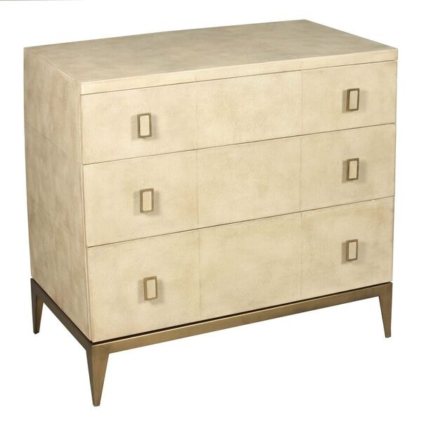 Circa Shagreen Leather Nitestand LHEAW240318ST At Walter E. Smithe Furniture  And Design