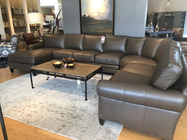 4pc Leatherstone Sectional
