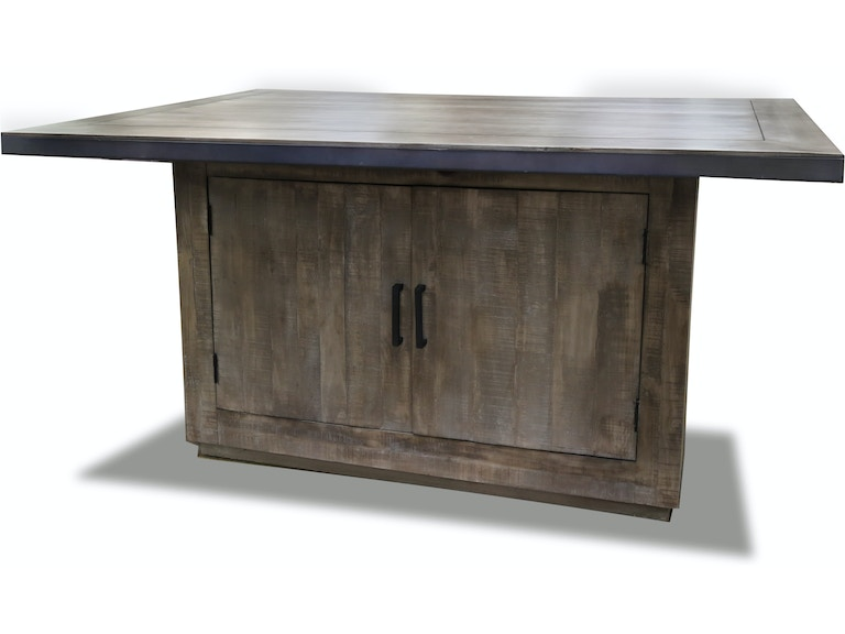ARIES COUNTER HEIGHT WORK STATION WITH STORAGE