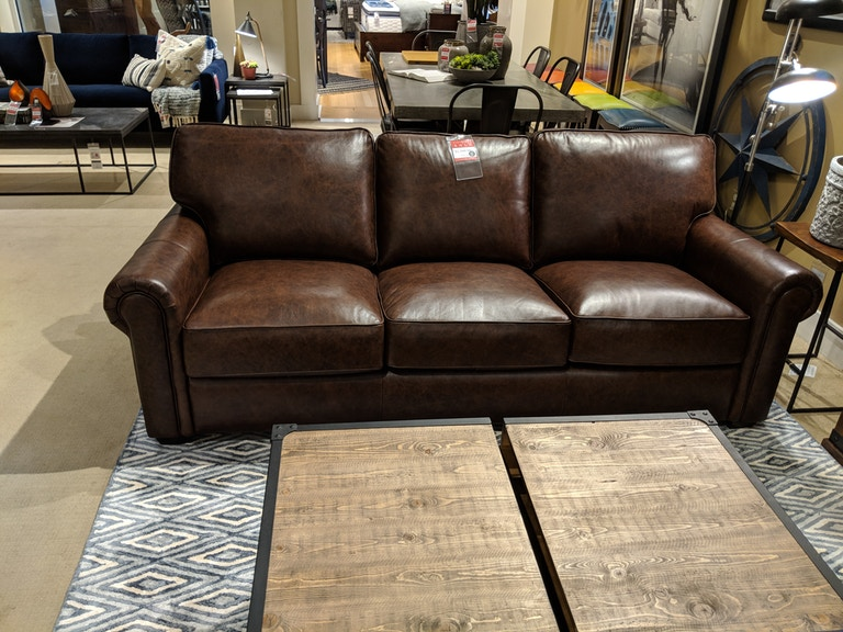 Clearance Davis Leather Sofa Nv9367sfst Clr From Walter E Smithe Furniture Design