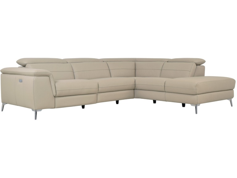 CRUZ 2 PIECE SECTIONAL - LSF 2-SEATER - AND CHAISE - IVORY LEATHER