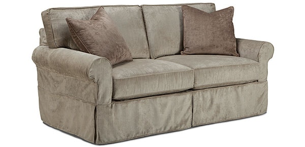 - DEMI GRACE 2-Seat Queen Sleeper Sofa With Slipcover
