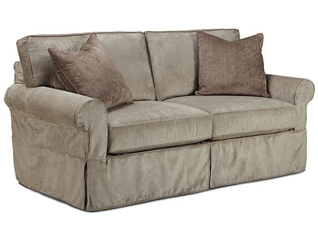 Demi grace 2 seat queen sleeper sofa with slipcover Sleeper sofa covers