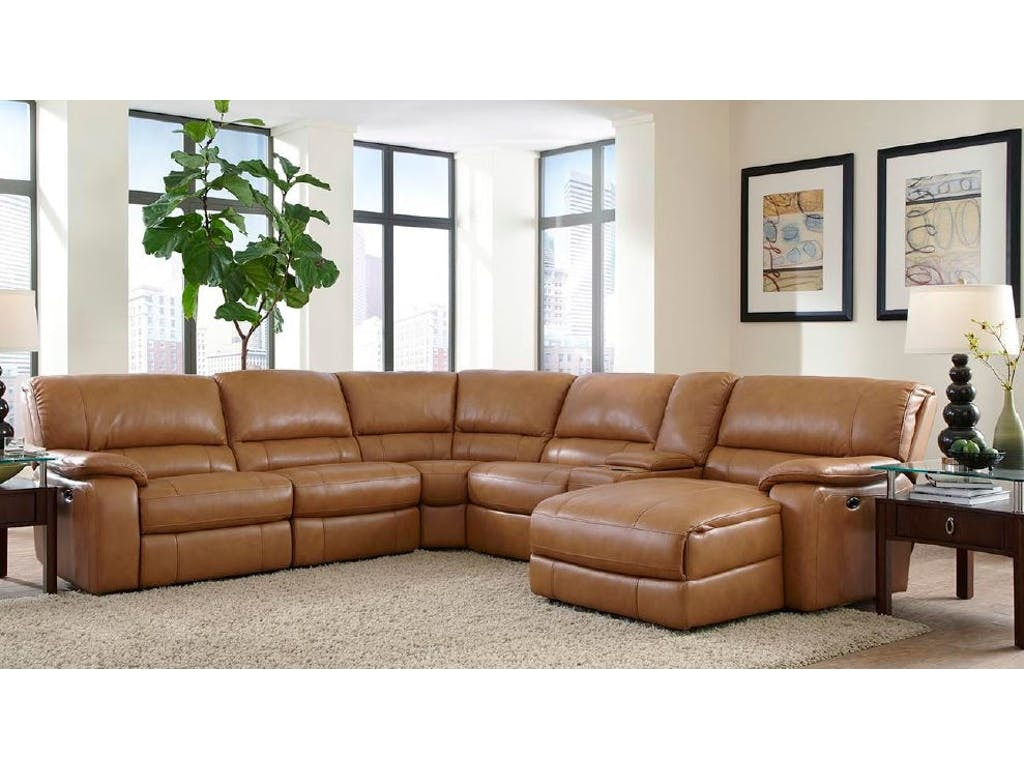 Dunham Leather Reclining Sectional