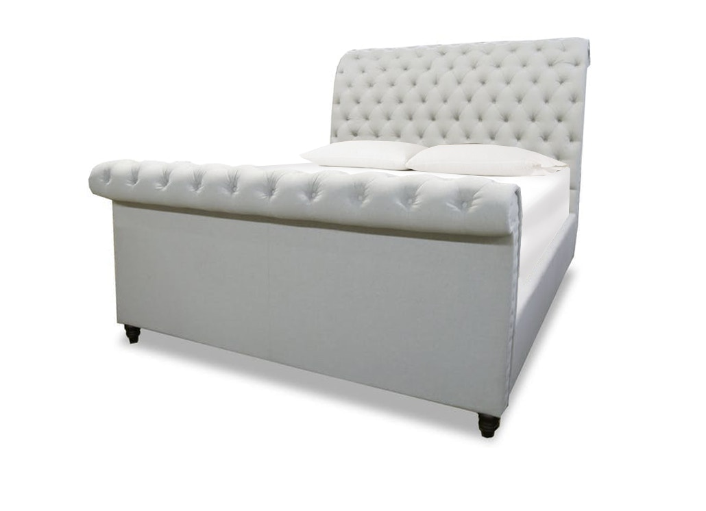 - Finley King Upholstered Sleigh Bed