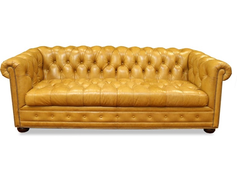 Clearance Living Room Kent Leather Chesterfield Sofa HAN987688-CLR Walter  E. Smithe Furniture + Design