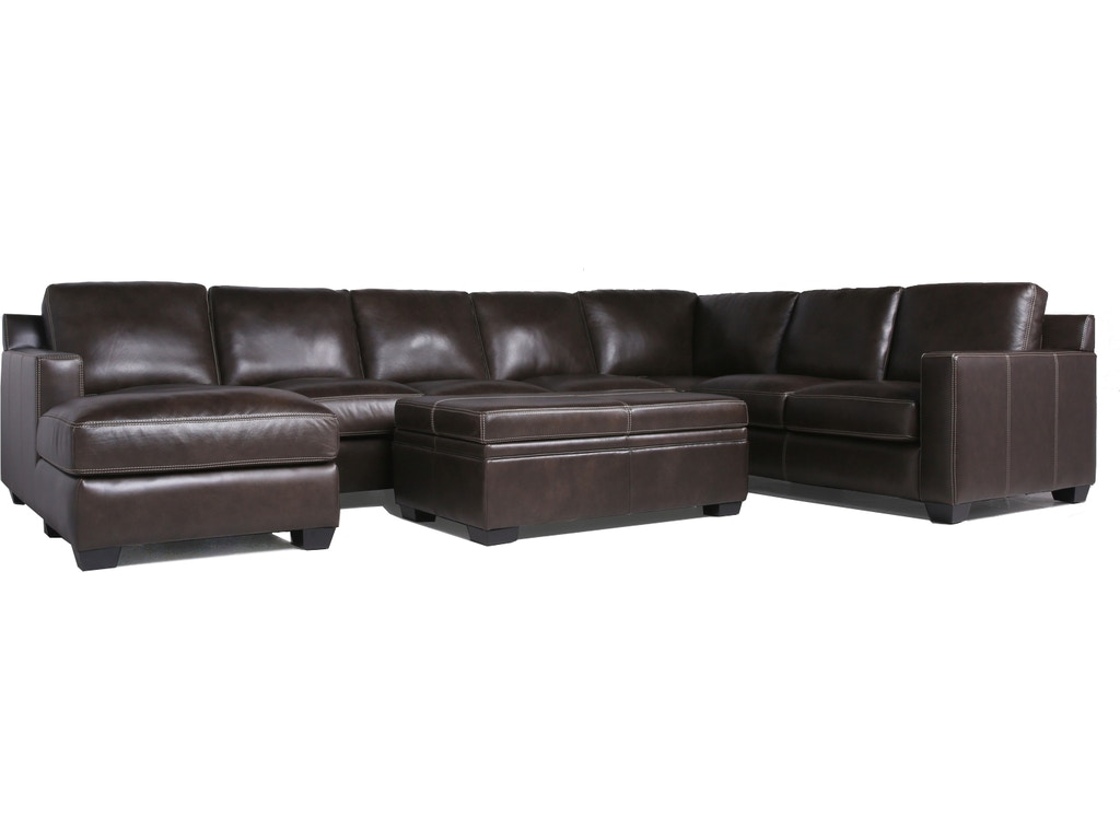 Pleasant Larkin Leather 5 Piece Sectional Caraccident5 Cool Chair Designs And Ideas Caraccident5Info