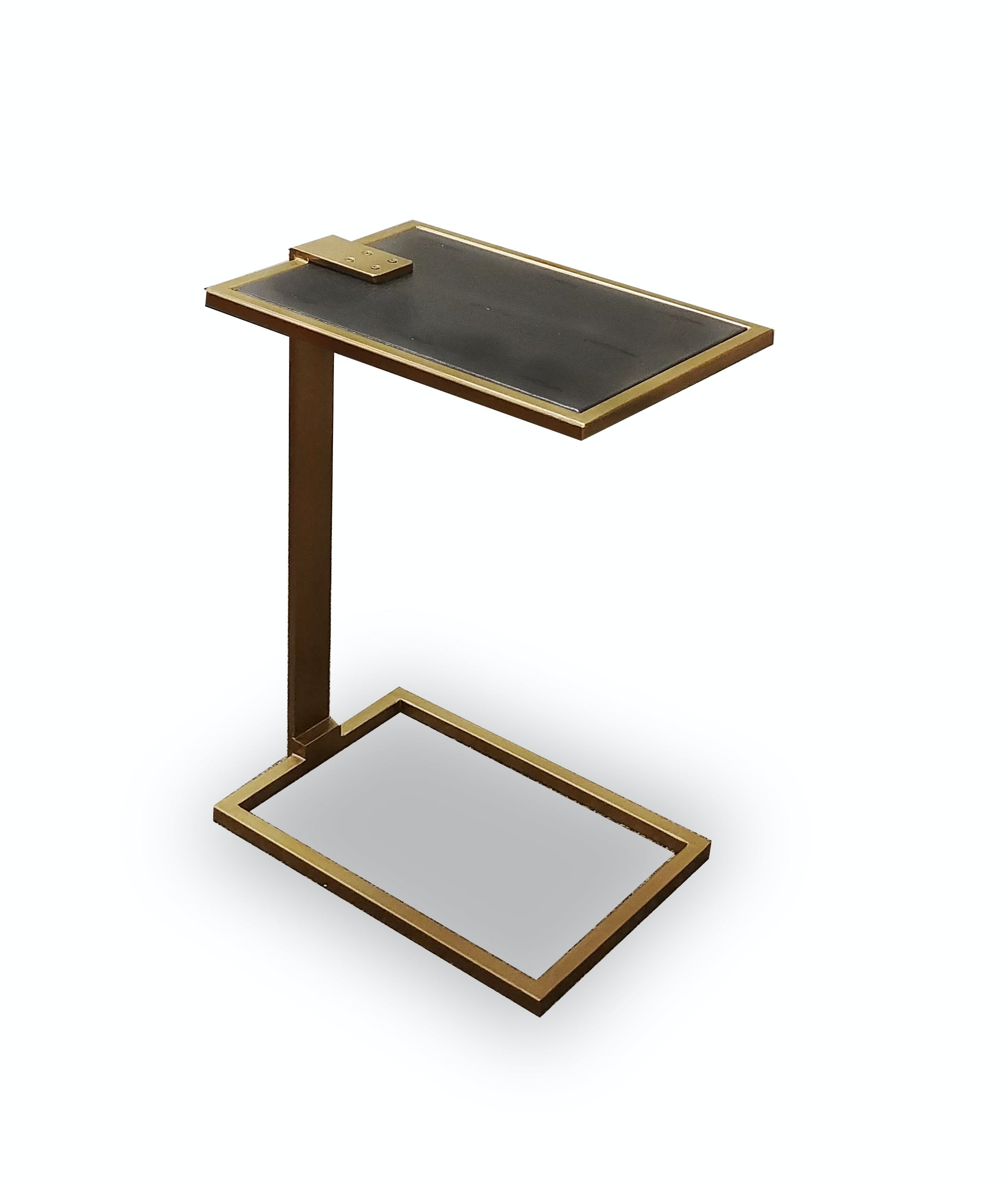 Stock Program Hughes Shagreen Leather Drink Table LHEAW2015018ST From  Walter E. Smithe Furniture + Design